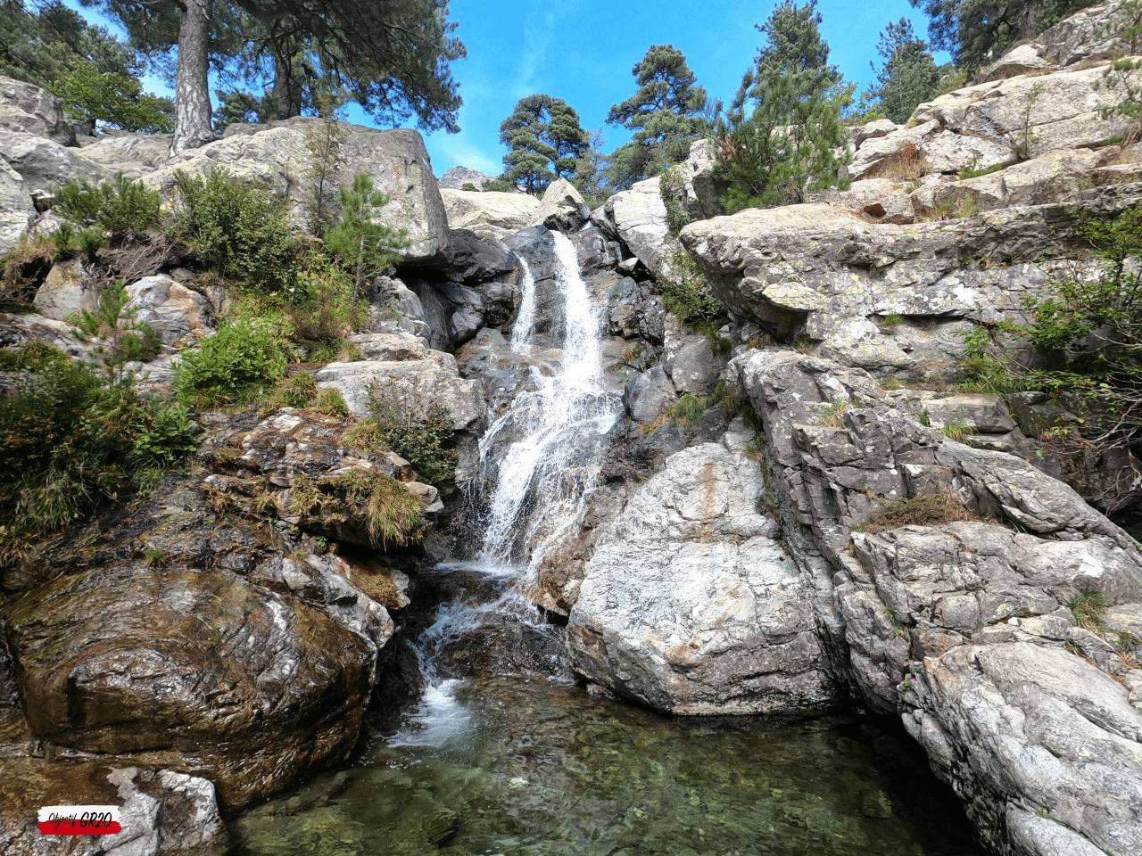 Cascade des Anglais à proximité de Vizzavona